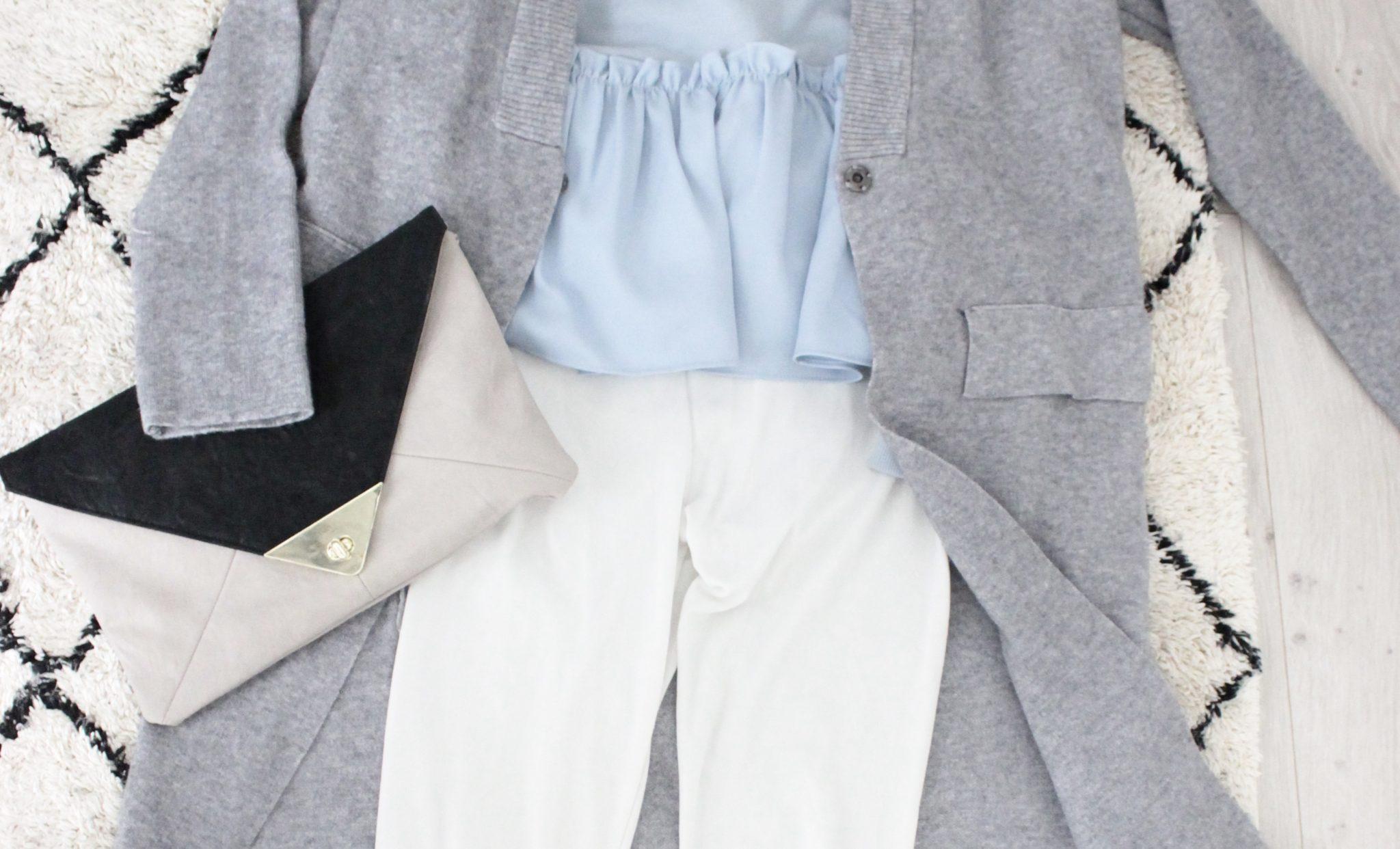 《30代コーディネート 》白パンツ×パステルカラーできれいめカジュアル春コーデ*
