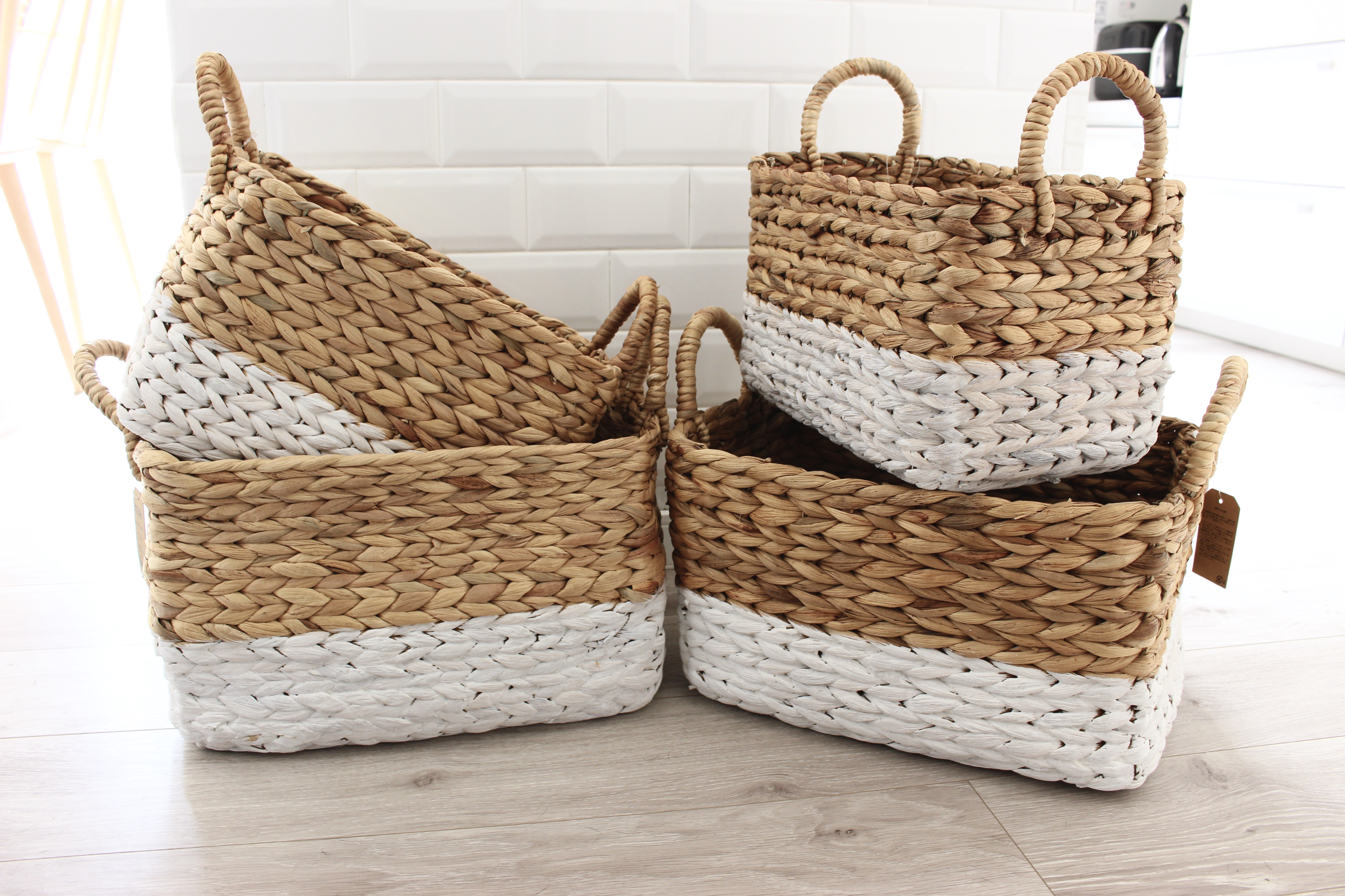 洗面所のタオル収納方法*バスケットに入れるだけでちょっとオシャレに♪