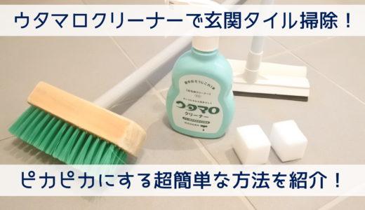 ウタマロクリーナーで玄関タイル掃除 ピカピカにする超簡単な方法を紹介!